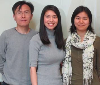 Hongjian Xu, Shawna Stanwood, Lilian Nohara (L-R) from the Jefferies Lab