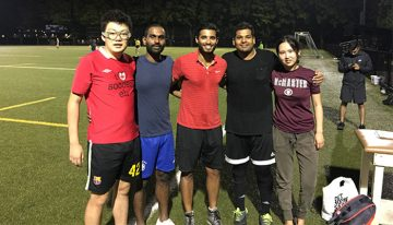 Several members of Team Blood Soccer 2017