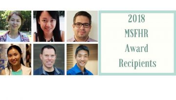 The 2018 Michael Smith Foundation for Health Research (MSFHR) Awards