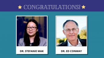 Dr. Stefanie Mak and Dr. Ed Conway receive 2020 UBC Science Co-op Supervisor Recognition Awards