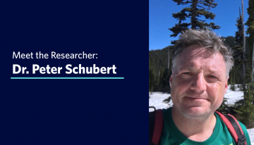 Meet the Researcher: Dr. Peter Schubert